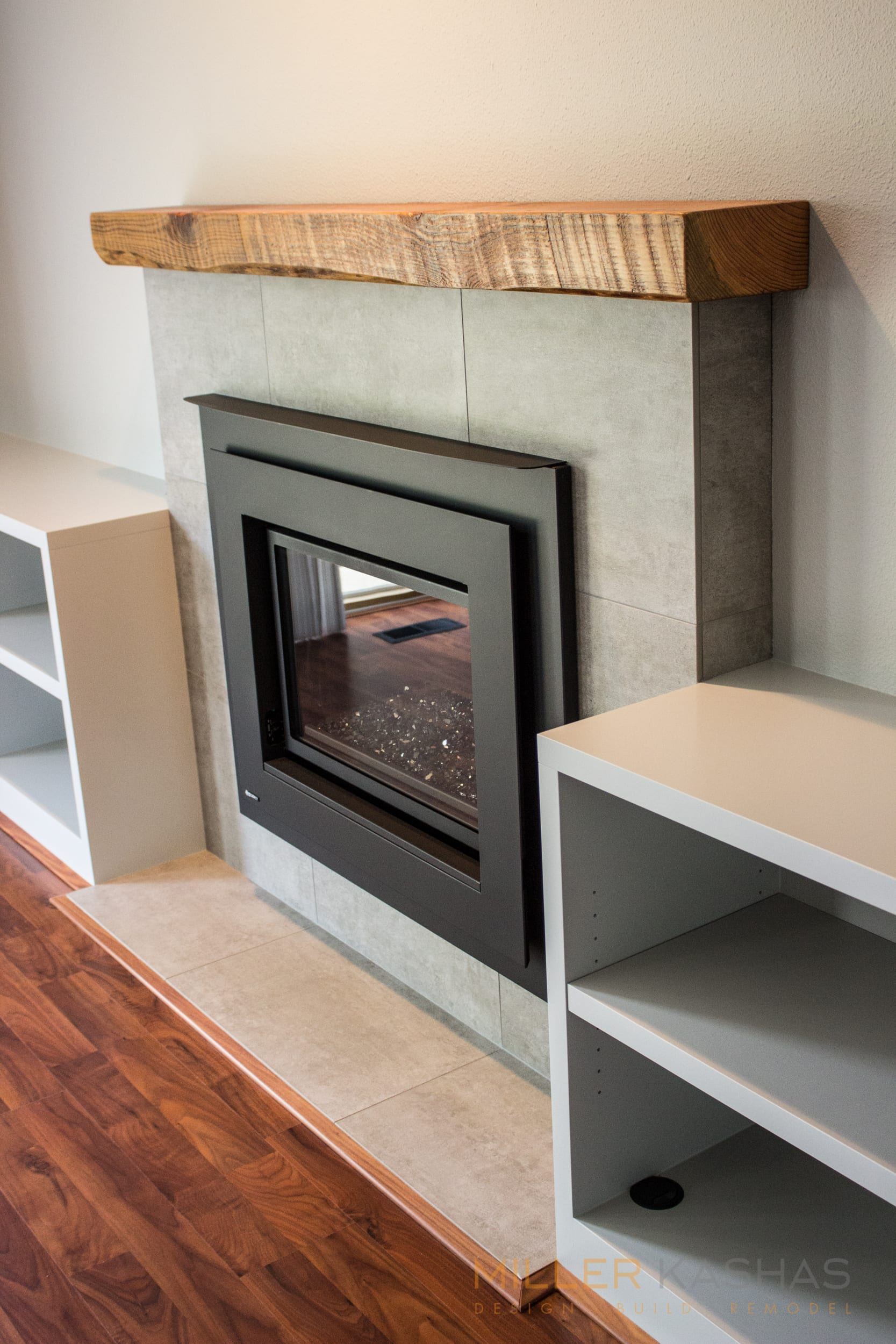 Dated And Boring Suburban Fireplace Gets Hip To The Times
