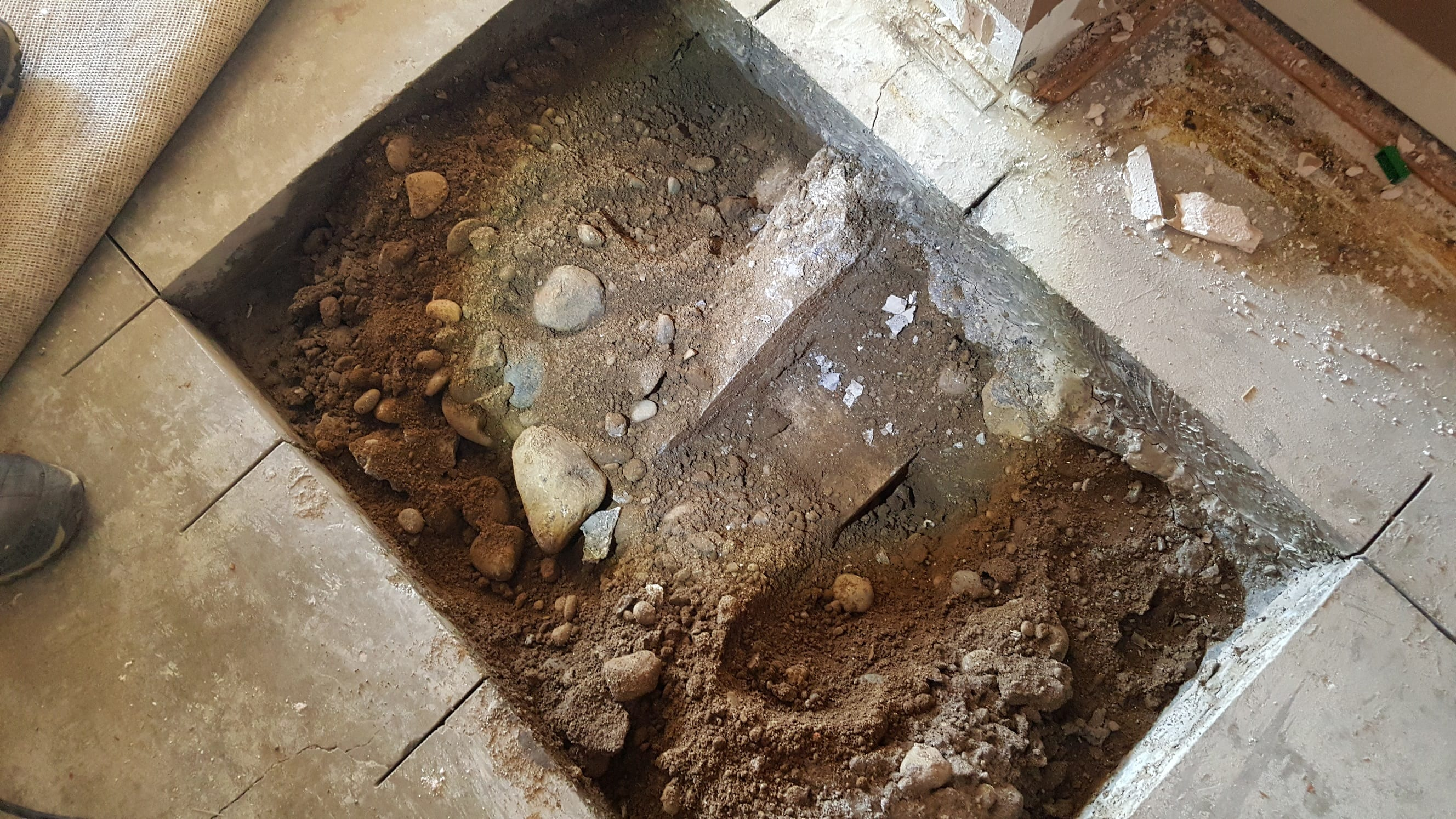 fireplace footing