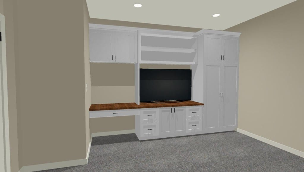 built in cabinet perspective