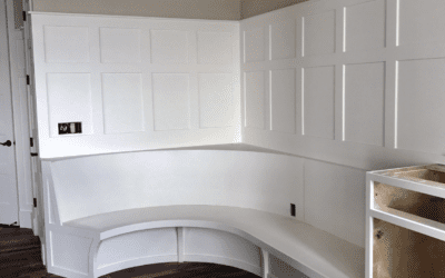 Radius Banquette Build – KDB Cabinet Shop