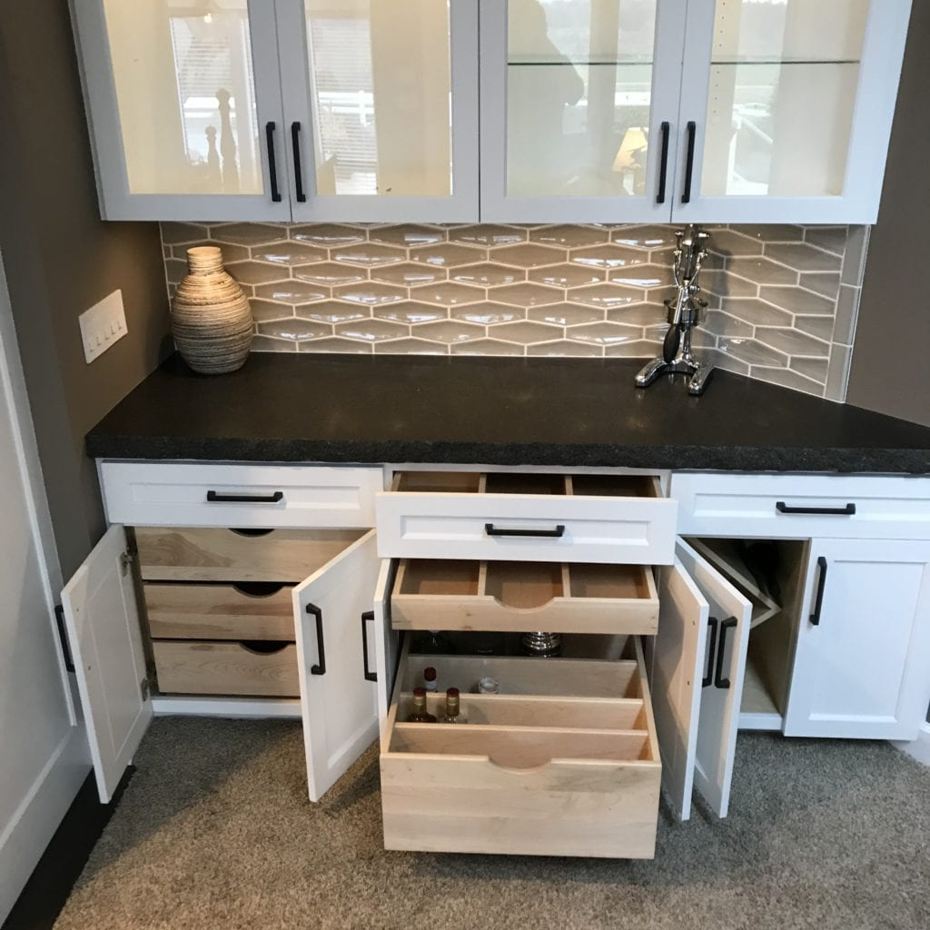 dry bar drawer dividers