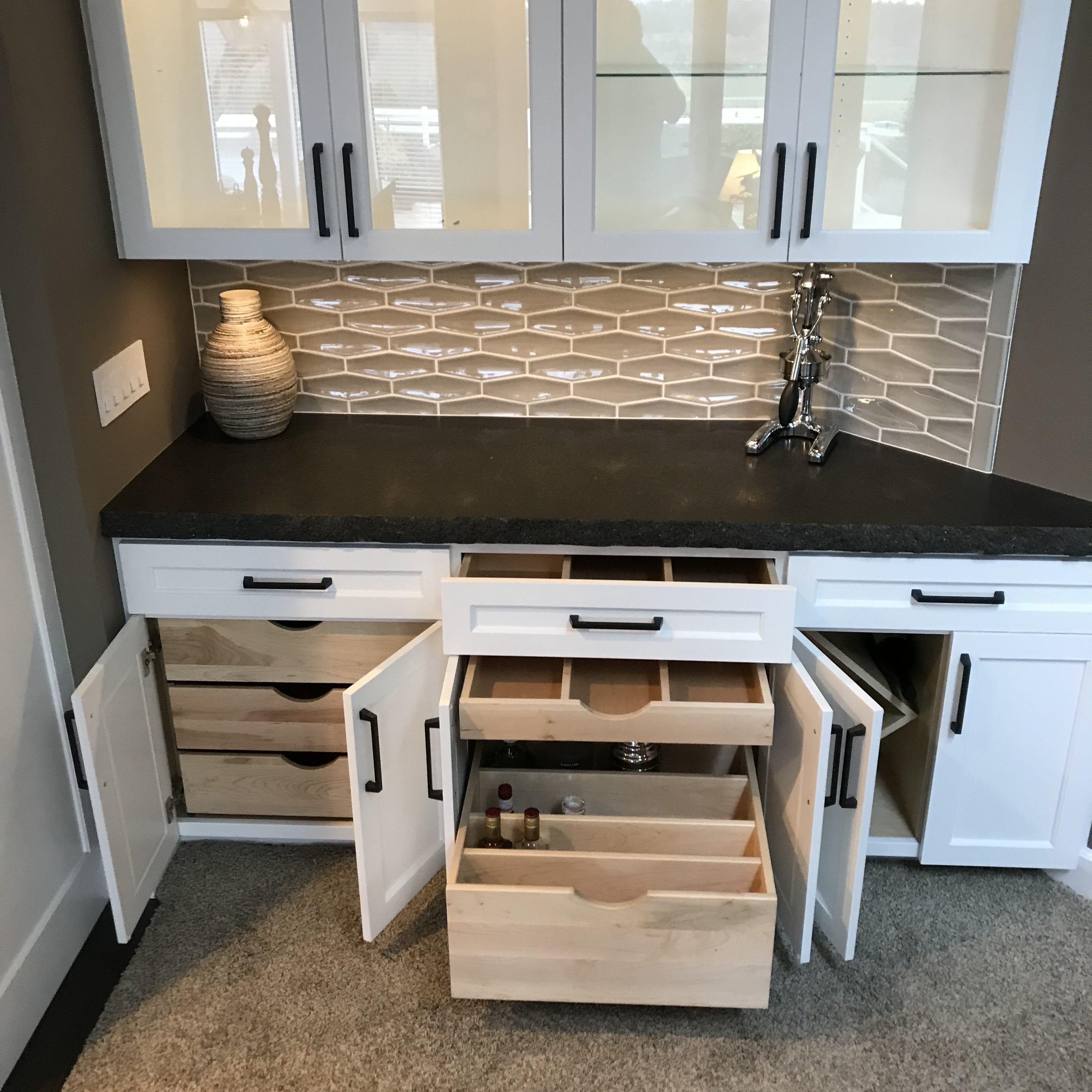 Efficient Awesome Dry Bar Storage Ideas Kashas Design Build
