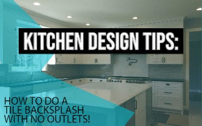 How to do a tile backsplash with no outlets!